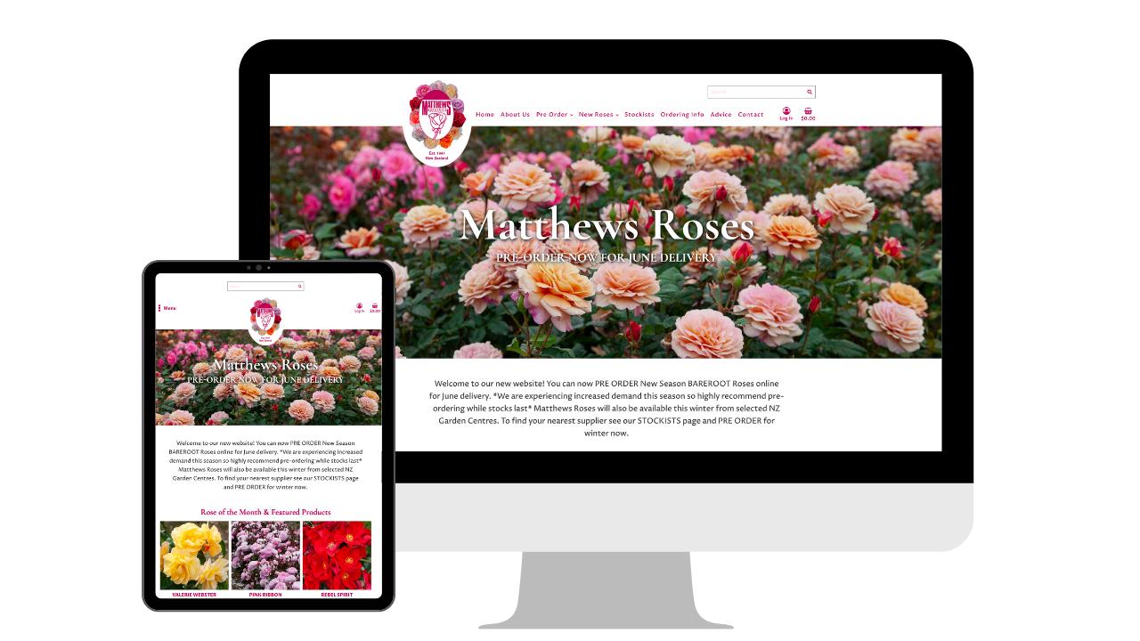 Mathews Roses Mockup - Portfolio