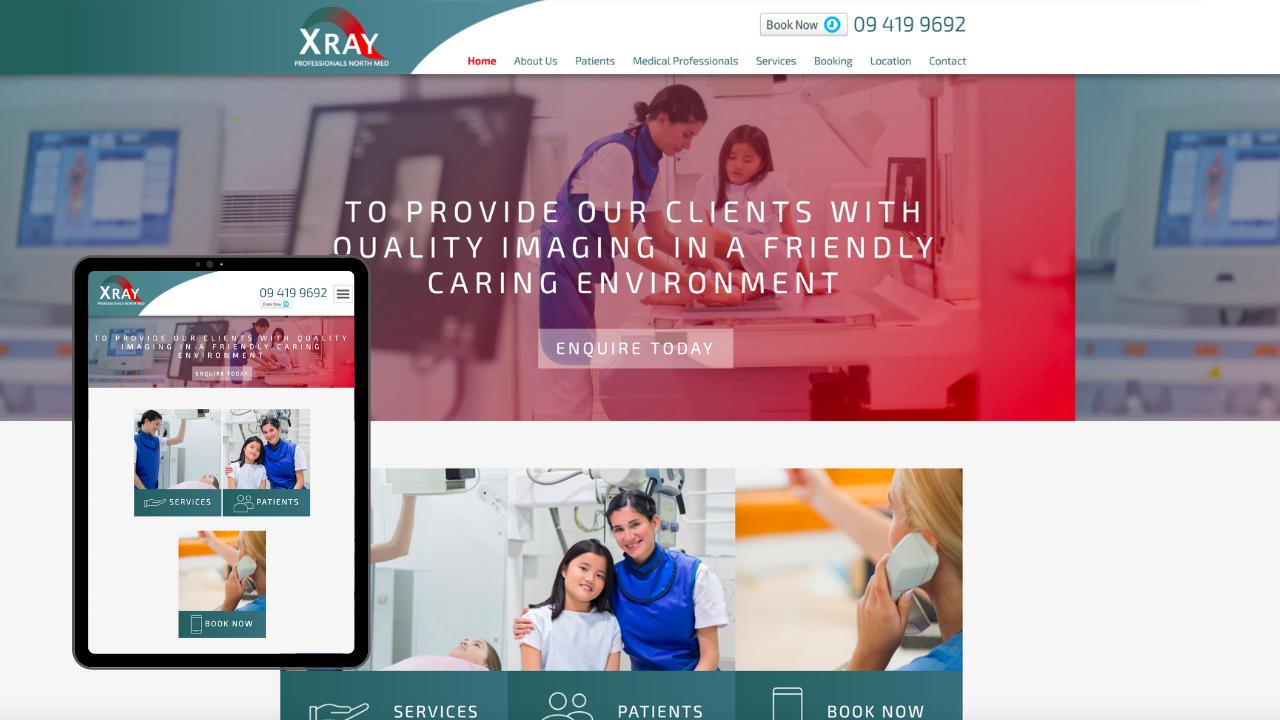 XRay Professionals Mobile Mockup - Portfolio